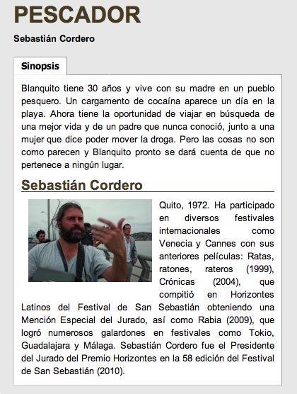 Pescador Sebastian Cordero