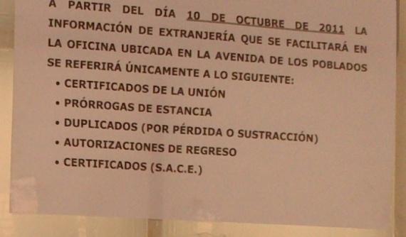 Oficina de Información Extranjería Madrid