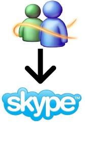 de MSN Windows Live messenger a Skype